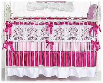 3a5020a69 Amazon.com : Caden Lane Luxe Collection Sophia Crib Bedding Set : Girl Crib  Bedding : Baby