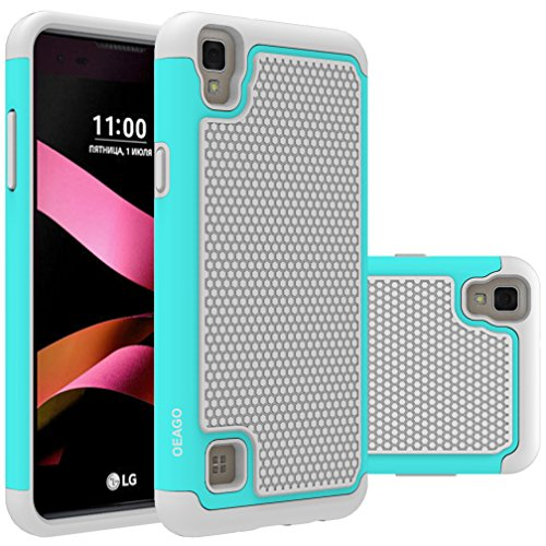 LG Tribute HD Case, LG Volt 3 Case, LG X Style Case, OEAGO [Shockproof] [Impact Protection] Hybrid Dual