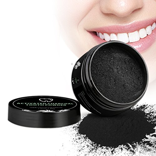 Price comparison product image Activated charcoal powder teeth, coconut charcoal teeth whitening, iFanze Teeth whitening charcoal powder, dental care whitening products - 100% Natural, No chemical additives, Activated charcoal teet