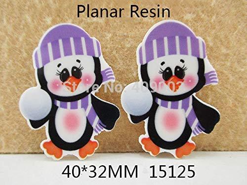 IDEA HIGH 25Y15125 DIY 4032mm Flat Back Penguin planar Resin DIY Holiday Decoration Craft Scrapbooking