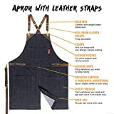 Under NY Sky Utility Apron - Leather Straps