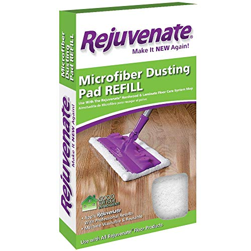 Rejuvenate Microfiber Dusting Pad Refill Fits Hardwood & Laminate Floor Care System Mop - Use with All Rejuvenate Floor Care Products