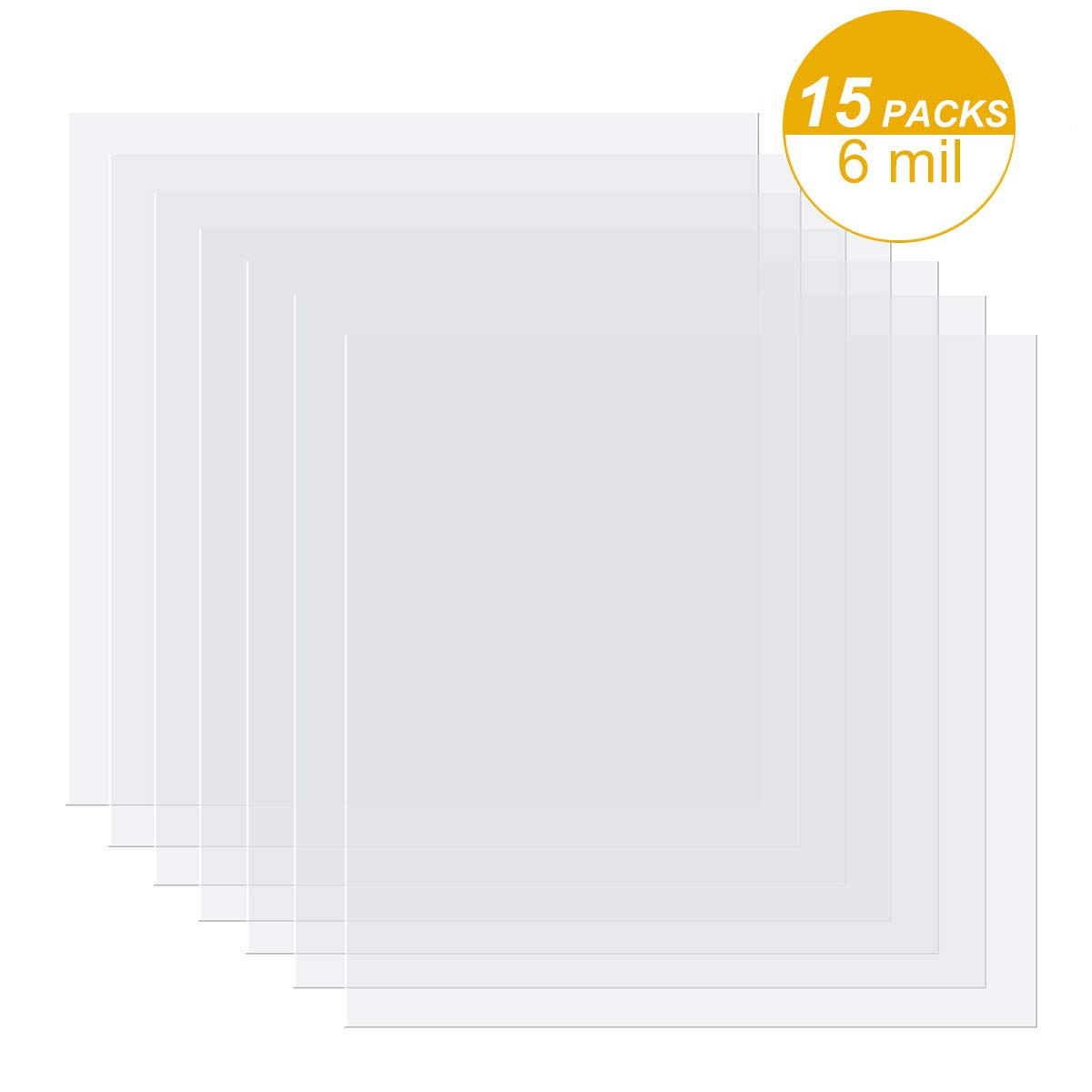 15 Pieces 6 mil Blank Stencil Material Mylar Template Sheets for Stencils, 12 x 12 inches by EG EMIGOO