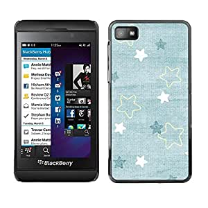 Be Good Phone Accessory // Dura Cáscara cubierta Protectora Caso Carcasa Funda de Protección para Blackberry Z10 // Baby Blue Cute Wallpaper Pattern