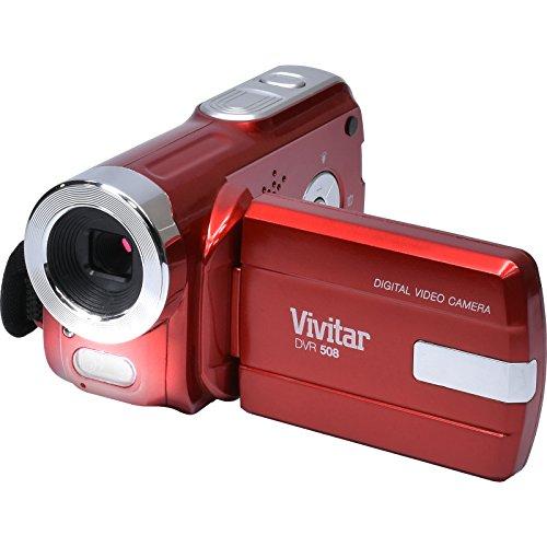 Vivitar DVR-508 HD Digital Video Camera Camcorder (Red) with 16GB Card + Case + Tripod + Kit
