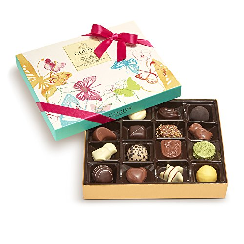 Godiva Chocolatier Assorted Gift Box, Spring Chocolate, 16 (Godiva Spring)