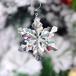 H&D Crystal Snowflake Chandelier Prisms Drop Pendants Ornament (Snowflake-6)