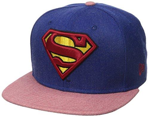 New Era Cap Men's Hero Heather 2 Superman 9Fifty Snapback Cap, Blue/Red, One Size ()