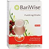 BariWise High Protein Shake/Low-Carb Diet Pudding & Shake Mix - California Strawberry (7 Servings/Box) - Gluten Free, Fat Free, Low Carb