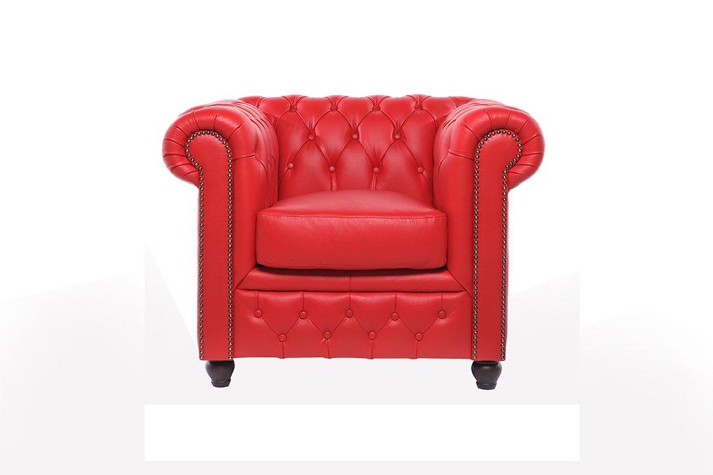Chesterfield Showroom Original Chesterfield Sessel 1 Sitzer