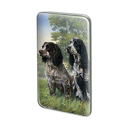 Graphics and More Pair of English Cocker Spaniel Dogs Rectangle Lapel Hat Pin Tie Tack Pinback