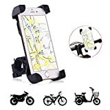 Bicycle Phone Mount,Fullbell Universal Cell Phone Bicycle Rack Handlebar & Motorcycle Holder for iPhone 7, 7 Plus, 6, 6 Plus (Black)
