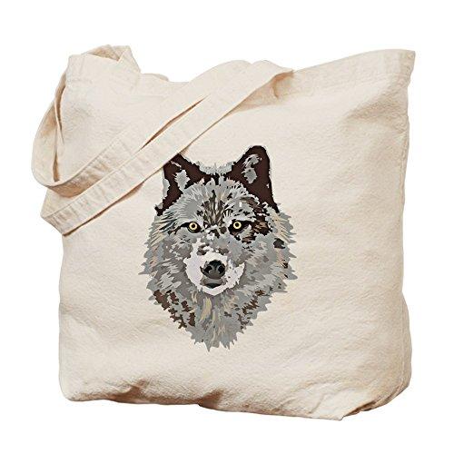 CafePress–estilizados lobo gris de gamuza de bolsa–bolsa de lona bolsa, bolsa de la compra