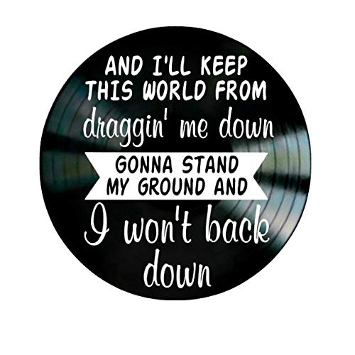I Won't Back Down song lyric art/inspired by Tom Petty/Vinyl Record Album Wall Decor ()