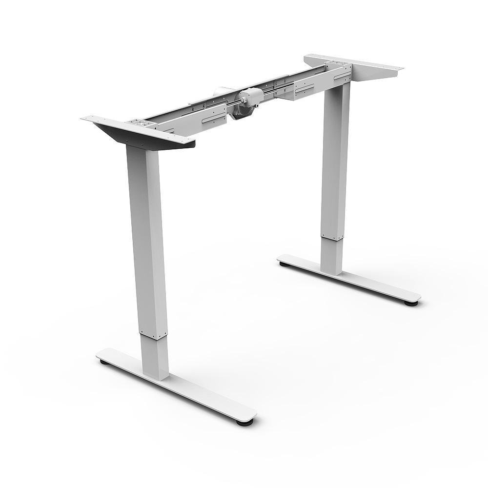 PrimeCables Electric Adjustable Height Standing / Sit-Stand Under Frame for Table Top (Table Top Not Include) (White)