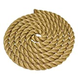 SGT KNOTS ProManila Rope (1 inch) UnManila Tan Twisted 3 Strand Polypropylene Cord - Moisture, UV, and Chemical Resistant - Marine, DIY Projects, Crafts, Commercial, Indoor/Outdoor (100 ft)