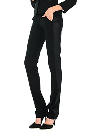 356b551fb9c111 Stefanie Renoma Pantalon de Smoking Slim Noir