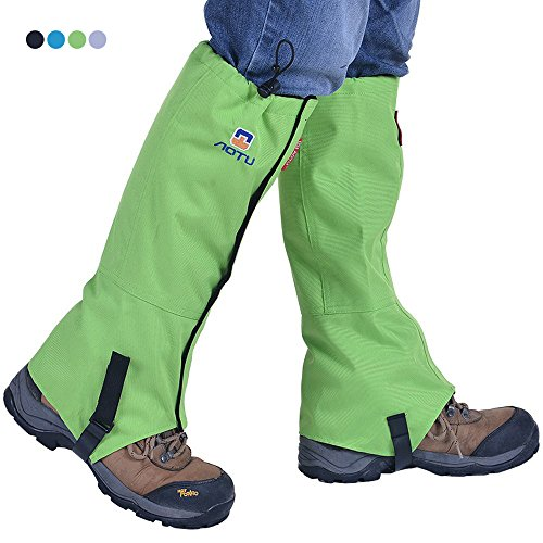 Tsonmall Hiking Gaiters Waterproof Breathable Snow Gaiters Leg for Men Womens Walking Climbing Hunting