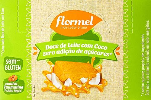 Display Doce de Leite com Coco Zero Flormel com 24 unidades de 20g