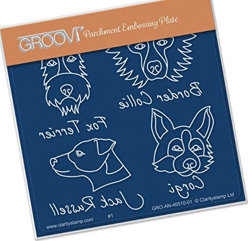 - Groovi Babies - Dog Breeds - Laser Etched Acrylic for Parchment Craft