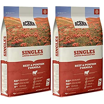 Image of ACANA 2 Pack of Beef & Pumpkin Singles Dry Dog Food, 13 Pounds Each, High Protein, Limited Ingredient, Made in The USA