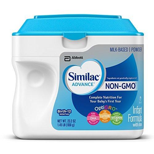 Similac Advance Non-GMO Infant Formula with Iron, Baby Formula, Powder, 23.2 Ounces (Pack of 6)