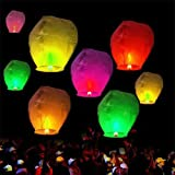 Andesan Ten Pcs Chinese Sky Fly Fire Lanterns Wish for Party Wedding Birthday