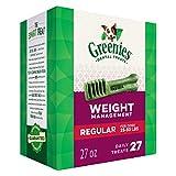 Greenies Weight Management Regular Size Dental Dog Treats, 27 Oz. Pack (27 Treats)