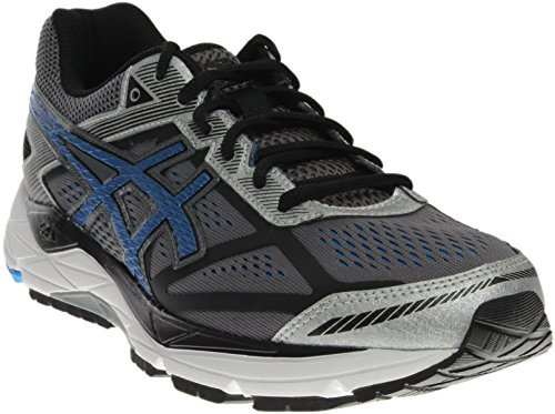 ASICS Men's Gel Foundation 12 Running Shoe, Carbon/Electric Blue/Black, 7 M US