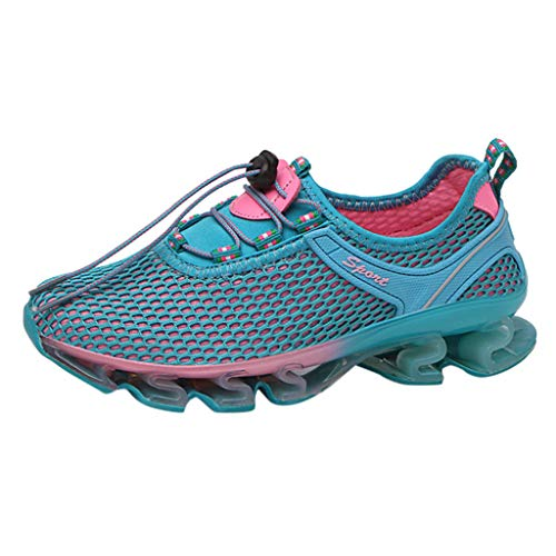 - AOJIAN Shoes Sneakers Workout Sports Casual Outdoor Breathable Lightweight Running Hiking Shoes for Women Blue