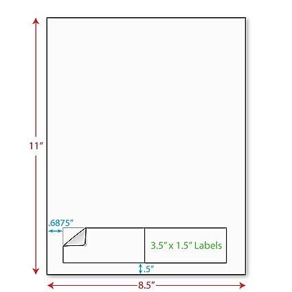 amazon com 3 1 2 x 1 1 2 3 5 x 1 5 integrated laser label
