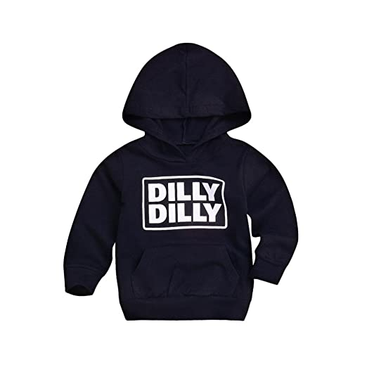 d880c3e25d Amazon.com  DIGOOD Toddler Baby Boys Girls Long Sleeve Dilly Hoodie ...