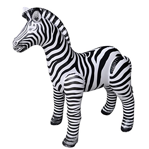 Jet Creations Inflatable Zebra, 32 inch by Jet Creations