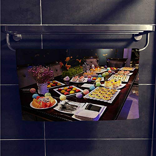 "Leigh home Dry Fast Towel,A Dessert Buffet Table,Gym Swim Hotel Use W 23.5"" x L 8"""
