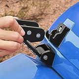 Voodonala for Jeep JK Black Stainless Steel Hood