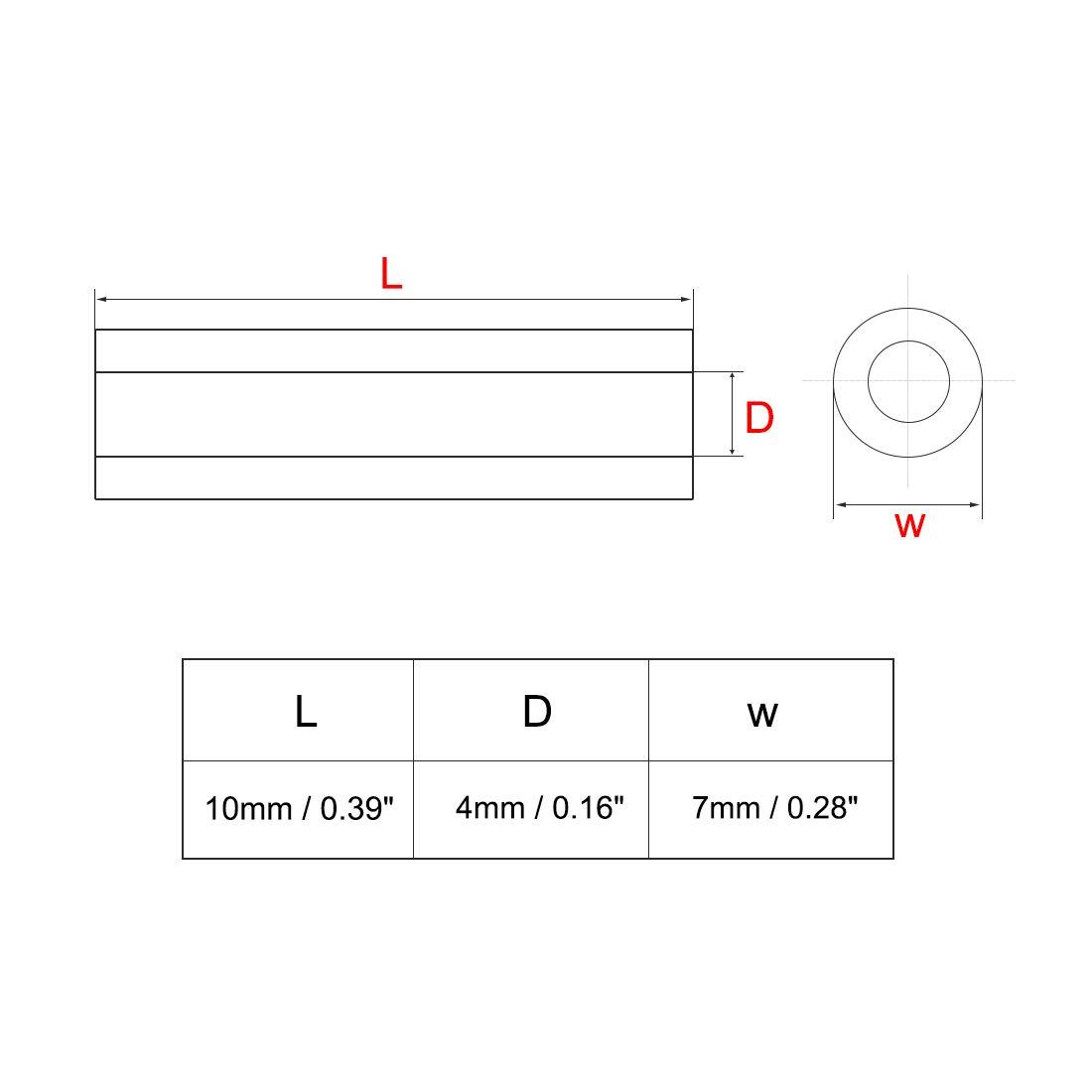 uxcell 140pcs 3x5x8mm Nylon Straight Insulating Tube PCB Pillar Standoff Spacer a18072700ux0484