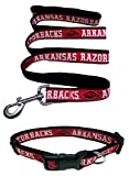 Arkansas Razorbacks Nylon Collar and Matching Leash for Pets (NCAA Official by Pets First) Size Large