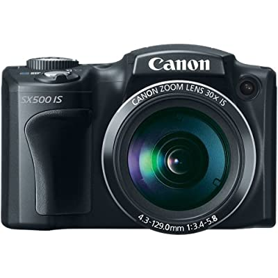 Canon PowerShot SX500 IS 16.0 MP Digital Camera with 30x Wide-Angle Optical Image Stabilized Zoom and 3.0-Inch LCD (Black) (OLD MODEL)