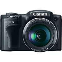 Canon PowerShot SX500 IS 16.0 MP Digital Camera with 30x Wide-Angle Optical Image Stabilized Zoom and 3.0-Inch LCD (Black) (OLD MODEL) At A Glance Review Image
