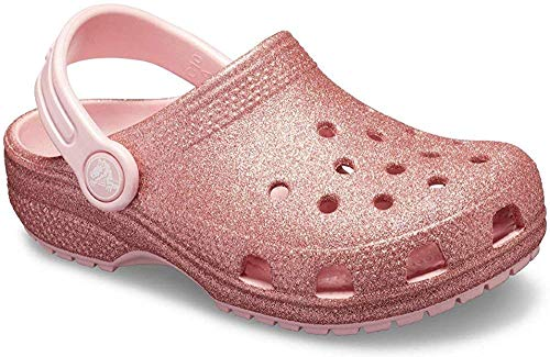Crocs Kids Classic Glitter Clog, Blossom, 3 M US Little Kid