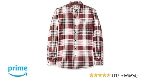 25a2bec22d9 Amazon.com  Goodthreads Men s Standard-Fit Long-Sleeve Brushed Flannel Shirt   Clothing