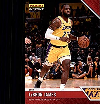 2effe0c5fe4 2018-19 Panini Instant NBA Basketball  4 LeBron James Los Angeles Lakers  Online Exclusive