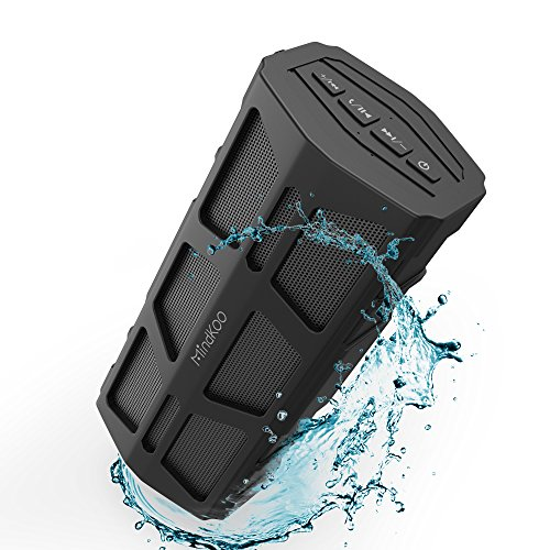 Bluetooth Speaker 30-Hour Playtime MindKoo IPX5 Waterproof Wireless Speakers with Hi-Fi Stereo Sound, Built in Mic, Outdoor Perfect Portable Speaker for Travel, Camping, Picnic and More