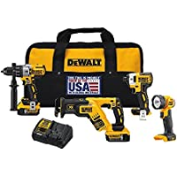Dewalt Dck494P2 20V Max Xr Lithium Ion 4-Tool Combo Kit Features