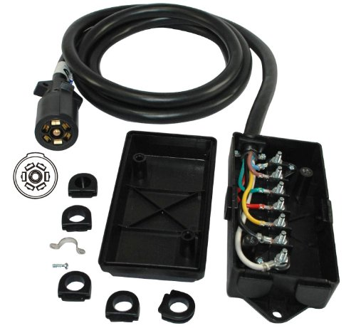 amazon com conntek 7 way plug inline trailer cord 7 gang amazon com conntek 7 way plug inline trailer cord 7 gang junction box patio lawn garden