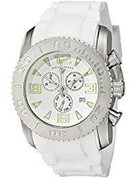 Mens 10067-02 Commander Analog Display Swiss Quartz White Watch