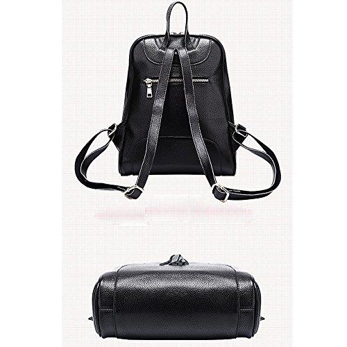 Anne - Bolso mochila  de Piel para mujer negro Red negro