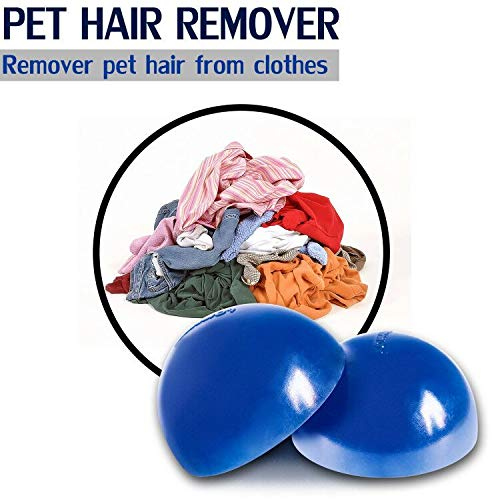 Pet Hair Cleaner Remove Dog Hair Cat Fur on Clothes 2-Pack Reusable Pet Hair Remover for Dryer Furniture Bedding Fur Catcher Lint Removal