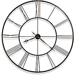 Howard Miller Postema Gallery Wall Clock 625-406 - Oversized Round Wrought-Iron with Quartz Movement