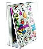 K&A Company Acrylic Magazine Holder, 11.75'' x 9'' x 4.5 lbs